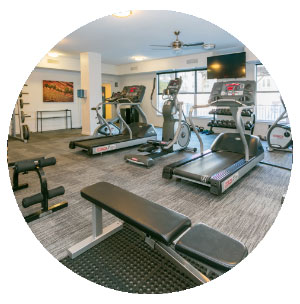 24-Hour Fitness Center - Lincoln Place Apartments
