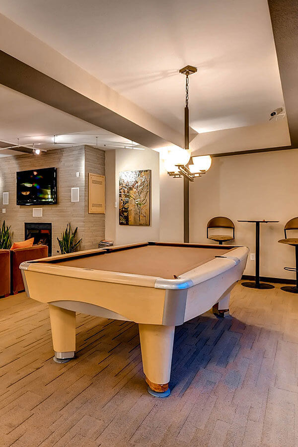 Pool Table - Resident Area - Loveland Downtown Apts
