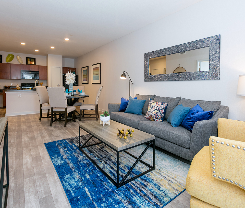 Inside Living Room - Luxury Apartments in Loveland